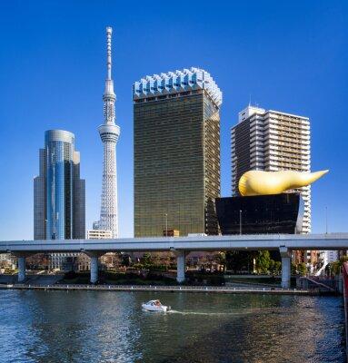 Adesivo Asakusa a Tokyo Skyline mit Skytree und Asahi Gebäude