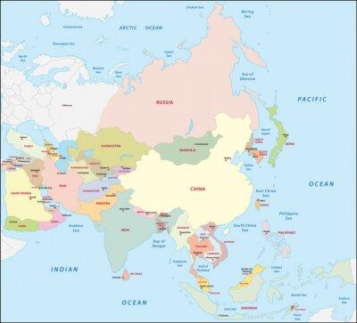 Adesivo Asia mappa