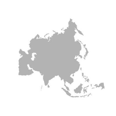 Adesivo Asia outline world map - Vector