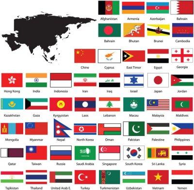 Adesivo Asian flags
