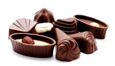 Adesivo Assortimento di cioccolato caramelle isolato