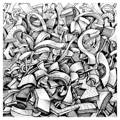 Adesivo Astratto doodles