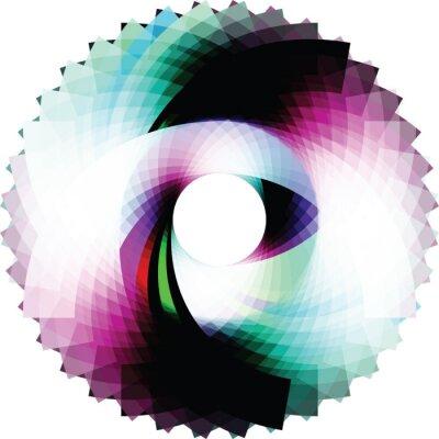 Adesivo Astratto geometrico Design. vettore sfondo