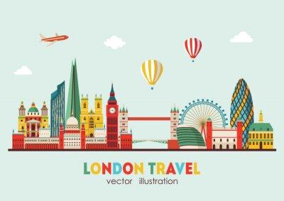 Adesivo Astratto Skyline di Londra. Illustrazione vettoriale - stock vector