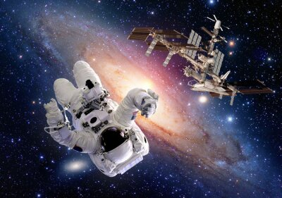 Adesivo Astronauta astronauta sci fi stazione shuttle spazio astronave. Elementi di questa immagine fornita dalla NASA.