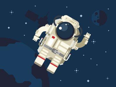 Adesivo Astronauta nello spazio esterno