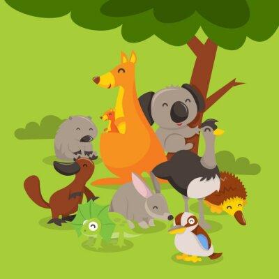 Adesivo Australian Animals Scene