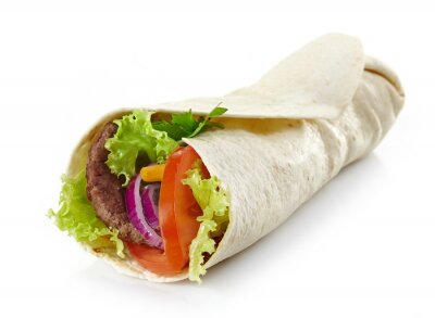 Adesivo Avvolgere con carne e verdure