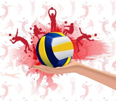 Adesivo Background design Pallavolo Sport