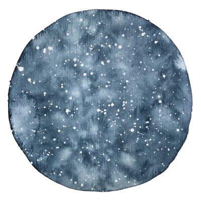 Adesivo Backround del cerchio dell'acquerello di un cielo notturno