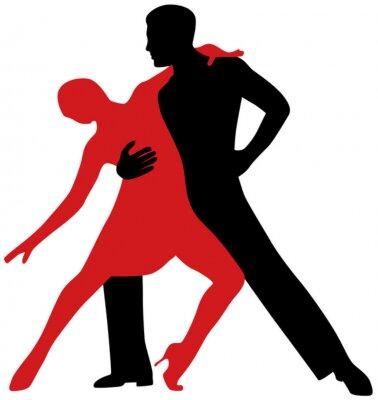 Adesivo Ballerini di tango