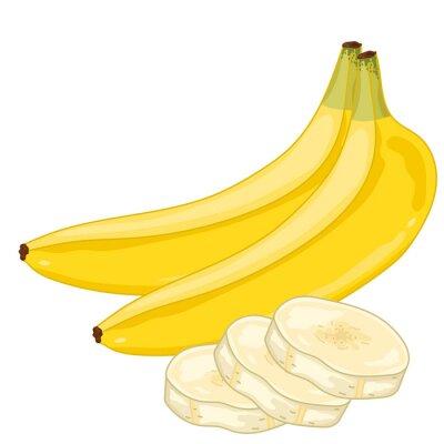 Adesivo Banana isolato su sfondo bianco.