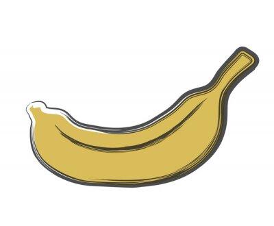 Adesivo banane Doodle