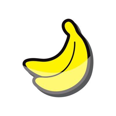 Adesivo banane icona illustrazione vettoriale eps 10