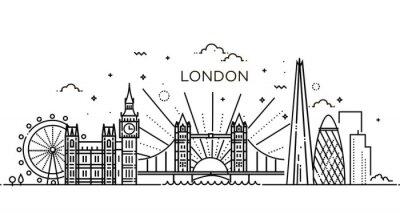 Adesivo Bandiera lineare della città di Londra.