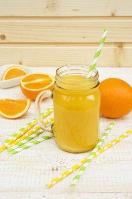 Adesivo barattolo di succo d'arancia