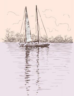 Adesivo barca a vela ad un puntello