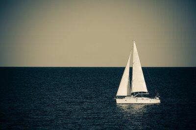 Adesivo Barca a vela in mare