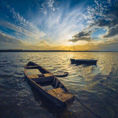 Adesivo Barche su un fiume Volga
