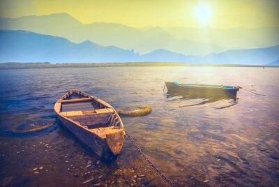 Adesivo Barche su un river_6