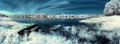 Adesivo barche sul fiume