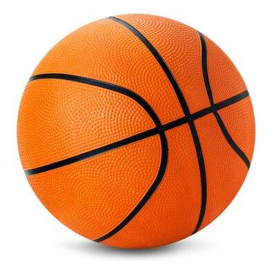 Adesivo basket ball isolato su sfondo bianco