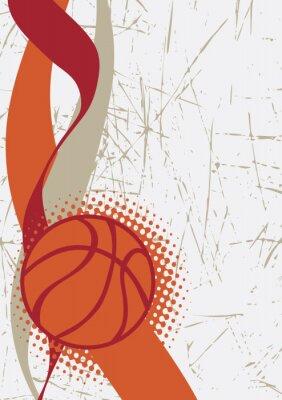 Adesivo basket verticale poster.Abstract sfondo