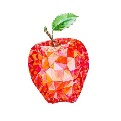 Adesivo Bassa acquerello mela poli