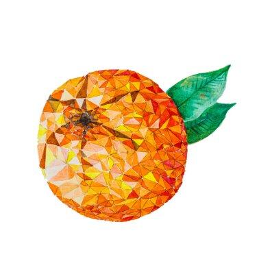 Adesivo Bassa arancio acquerello poli