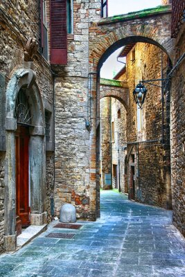 Adesivo beautiful old streets of Italian medieval towns,Tody
