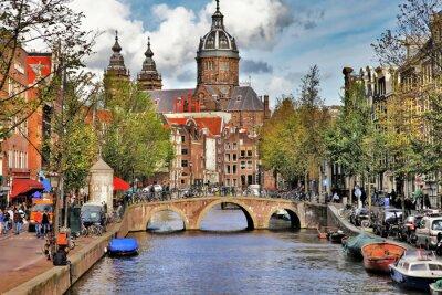 Adesivo bei canali di Amsterdam