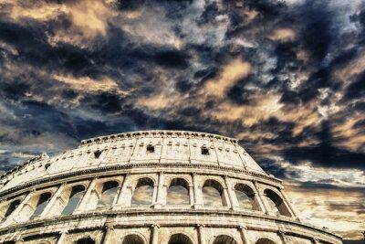 Adesivo Bel cielo sopra Colosseo a Roma