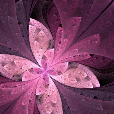 Adesivo Bella diagonale fiore frattale o farfalla in vetrate