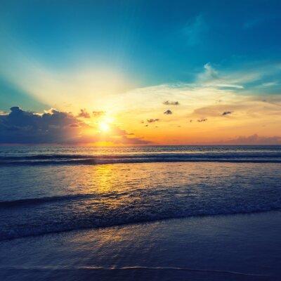 Adesivo Bella sorgere del sole arancione
