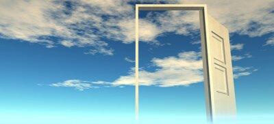 Adesivo Bella vista del cielo. Le porte al cielo.