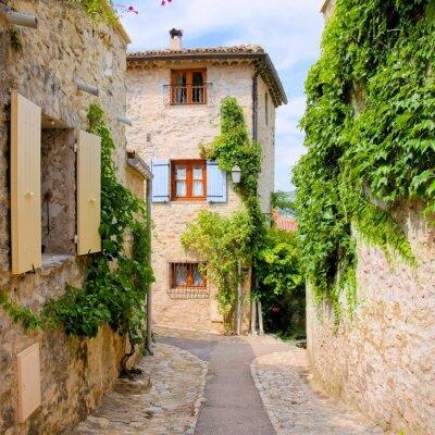 Adesivo Belle case in pietra in un villaggio pittoresco in Provenza, Francia