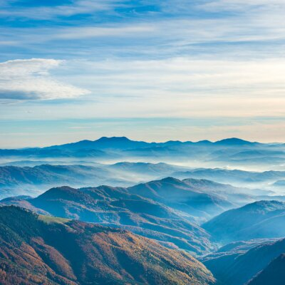 Adesivo Belle montagne blu e colline