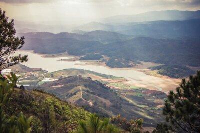 Adesivo bellissimo paesaggio di montagna