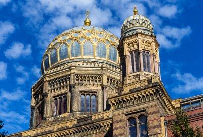 Adesivo Berlino sinagoga nel quartiere di Mitte