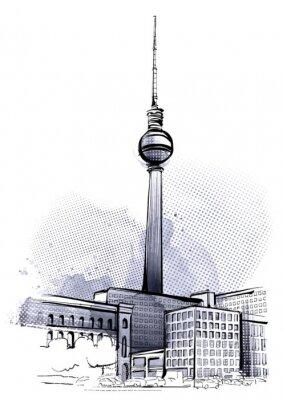Adesivo Berlino Sketch
