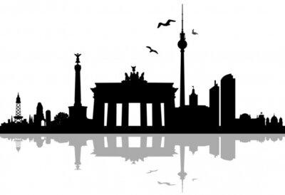 Adesivo Berlino skyline silhouette