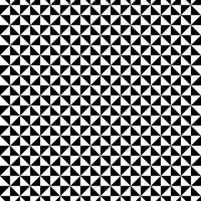 Adesivo Bianco e nero modello triangolo