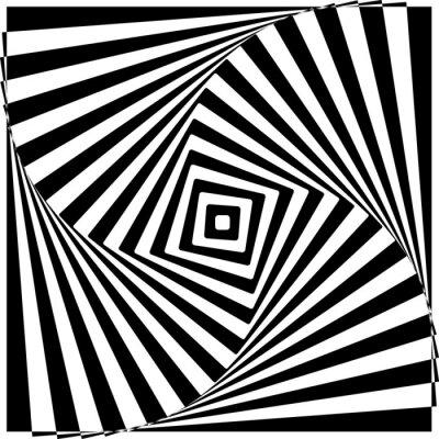Adesivo Bianco e nero Optical Illusion illustrazione vettoriale.