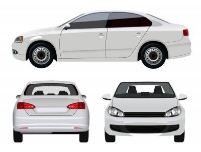 Adesivo Bianco veicolo - Limousine da tre punti di vista