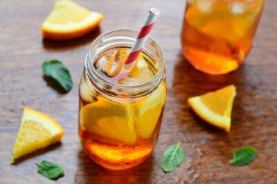 Adesivo bibita fresca d'arancia