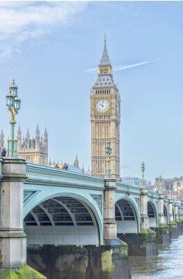 Adesivo Big Ben con ponte e Tamigi Westminster fiume a Londra