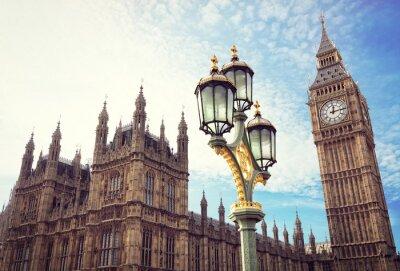 Adesivo Big Ben e le Camere del Parlamento a Londra