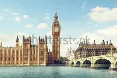 Adesivo Big Ben in sunny day, London