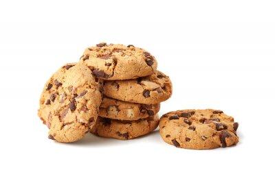 Adesivo biscotti al cioccolato su bianco