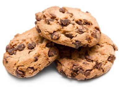 Adesivo biscotto con gocce di cioccolato